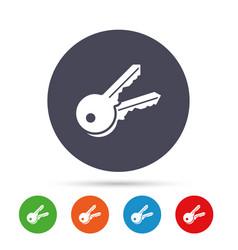 Keys sign icon unlock tool symbol vector