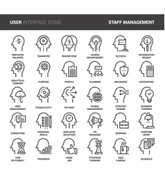 Business and staff management vector