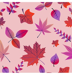 Vintage autumn leaves seamless pattern background vector
