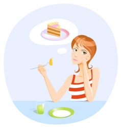 Dieting girl vector