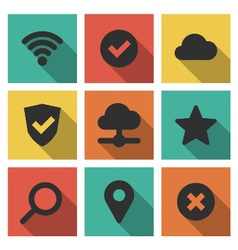 Icons Set Internet vector image