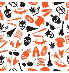 Various color punk icons seamless pattern eps10 vector