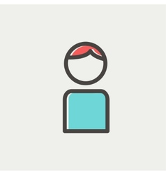 Male thin line icon vector