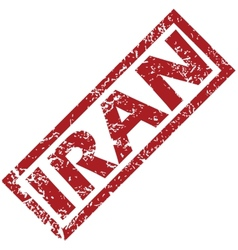 New iran rubber stamp vector