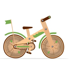 Wooden bike vector