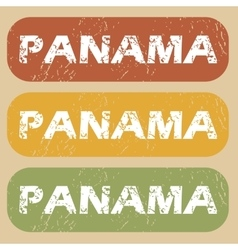 Vintage panama stamp set vector