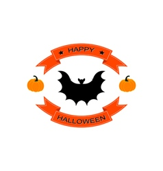 Halloween logo sign with bat vector