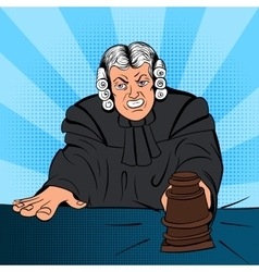Angry judge comics character vector