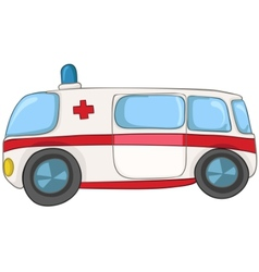 Cartoon emergency car vector