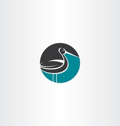 Stork circle icon logo vector