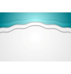Abstract turquoise corporate wavy background vector