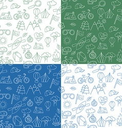 Seamless pattern with ecotourism design elements vector