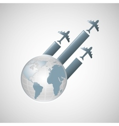 Travel transportation airplane vector
