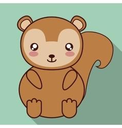Kawaii squirrel icon cute animal graphic vector