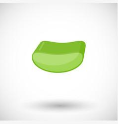 Aloe slice flat icon vector