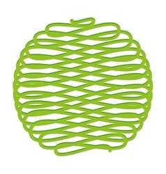 Ball of yarn isolated icon design vector