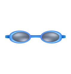 blue goggles for swim vector image