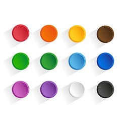 Buttons shadow vector