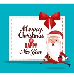 card santa merry christmas design vector image
