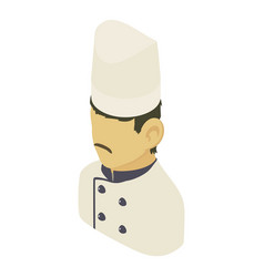 chef man asian icon isometric 3d style vector image vector image