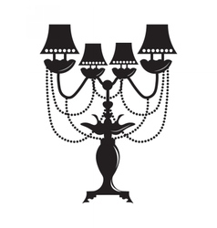 Classic baroque lamp vector