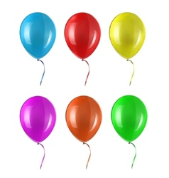 Colored balloon vector image vector image