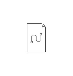 connection file icon vector image