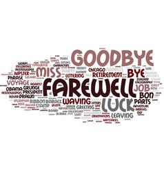 Farewell word cloud concept vector