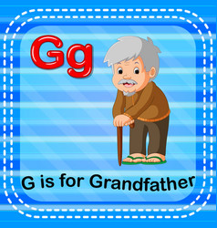 Flashcard letter g is for grandfather vector