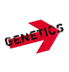 Genetics rubber stamp vector