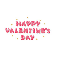 happy valentines day inscription with glitter vector image vector image