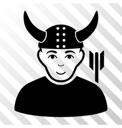 Horned warrior icon vector