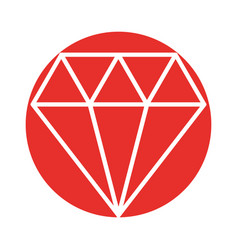 luxury diamond isolated icon vector image vector image