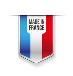 Made in France flag vector image