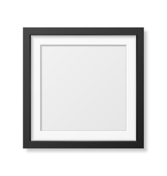 Realistic square black frame vector image vector image
