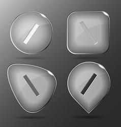 Ruler glass buttons vector