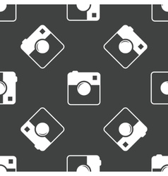 Square camera pattern vector