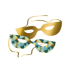 Venice carnival mask concept abstract geometry vector