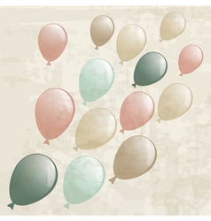 vintage background with balloons vector image