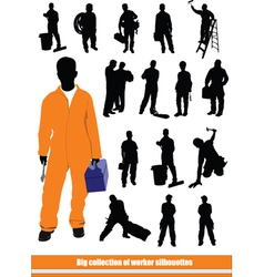 Worker silhouettes vector