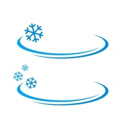 Background with blue snowflake vector