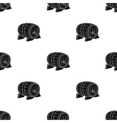 Beer barrel icon in black style isolated on white vector image