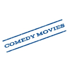 Comedy movies watermark stamp vector