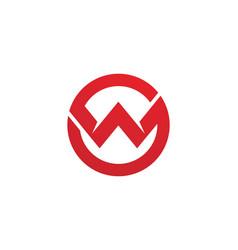 W letter logo vector