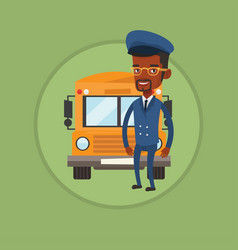 school bus driver vector image