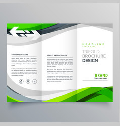Modern creative trifold business brochure vector