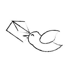 Bird message romance sketch vector