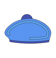 Icon in flat design golf beret vector