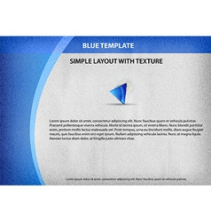 Template blue curve side vector