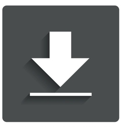 Download sign downloading flat icon load label vector